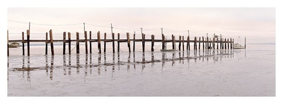 Vintage Pier at Fishing Village Posters by Alan Blaustein