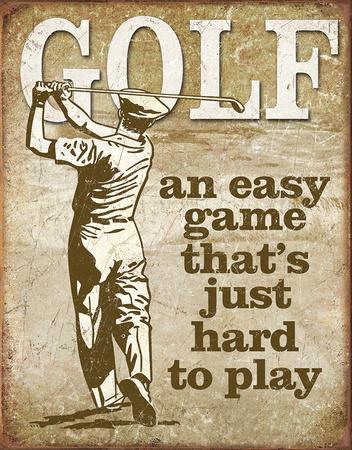 Golf - Easy Game Blikskilt