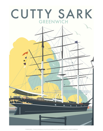 Cutty Sark - Dave Thompson Contemporary Travel Print Posters by Dave Thompson