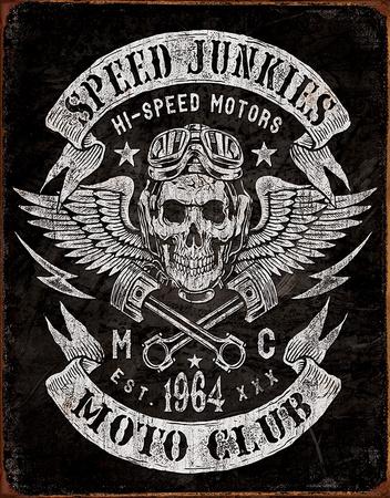 Speed Junkies Tin Sign