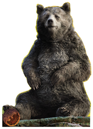 The Jungle Book - Baloo Lifesize Standup Cardboard Cutouts