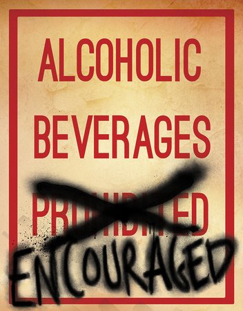 Alcoholic Beverages Tin Sign