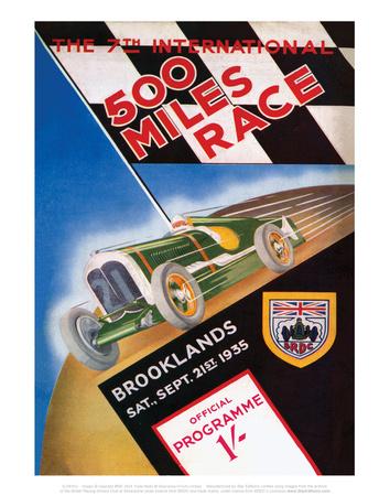 500 Miles Race - Silverstone Vintage Print Prints by Silverstone