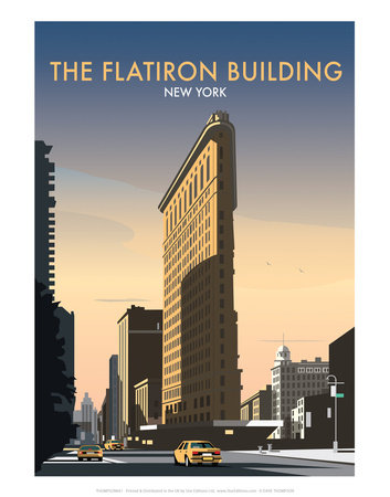 FlatIron Building - Dave Thompson Contemporary Travel Print Print by Dave Thompson