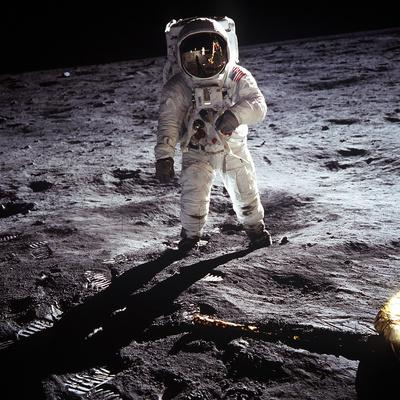 "1st Steps of Human on Moon: American Astronaut Edwin ""Buzz"" Aldrinwalking on the Moon Photo"