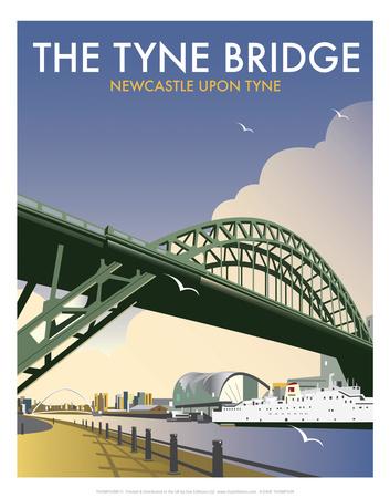 Tyne Bridge - Dave Thompson Contemporary Travel Print Prints by Dave Thompson