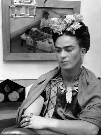 Mexican Painter Frida Kahlo (1907-1954) 1948 Photo