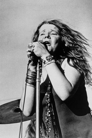 Singer Janis Joplin (1943-1970) in Concert in 1968 Photo