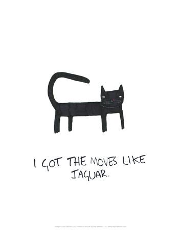 Moves Like Jagger - Tom Cronin Doodles Cartoon Print Prints by Tom Cronin