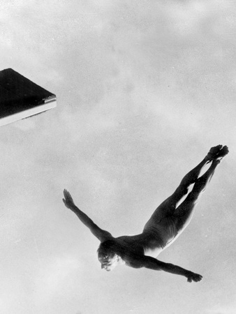 Olympic Games in Helsinki : Diving During Swimming Events July 29, 1952 Photo