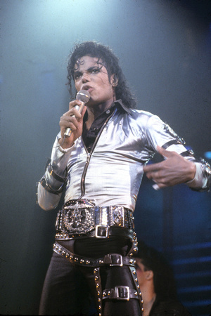 Mickael Jackson on Stage in Los Angeles in 1993 Foto