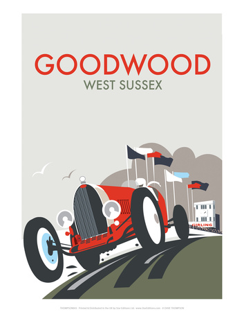 Goodwood - Dave Thompson Contemporary Travel Print Posters by Dave Thompson