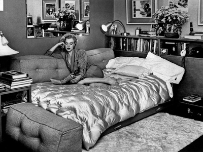 Marilyn Monroe at Home in Hollywood in 1962 Photo