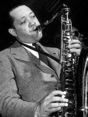 Jazz Saxophonist Lester Young (1909-1959) C. 1953 Foto