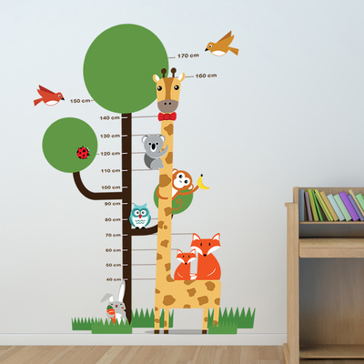Animal Measurement Chart Wall Decal