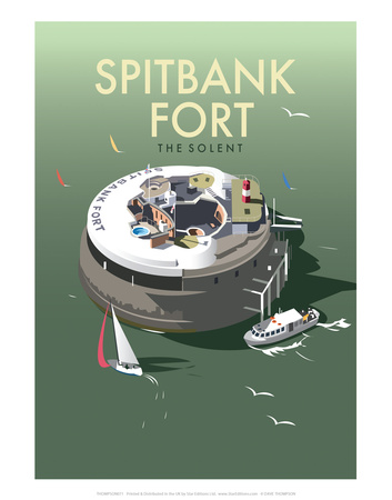 Spitbank Fort - Dave Thompson Contemporary Travel Print Posters by Dave Thompson