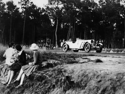 Mercedes-Benz Ss in Action at the Le Mans 24 Hours, France, 1930 Photo