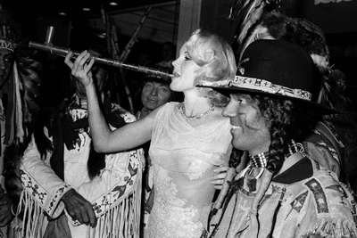"""Actress Carroll Baker at the Premiere of the Film """"Cheyenne Autumn"""", Paris, 29 October 1964 Photo"""