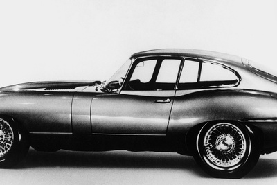 New Jaguar Car Will Be Presented for the First Time in Geneva Car Fair March 16, 1961 Photo