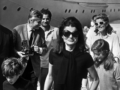 Jackie Bouvier Kennedy, Future Mrs Onassis, with John F. Kennedy Jr and Caroline Kennedy Photo