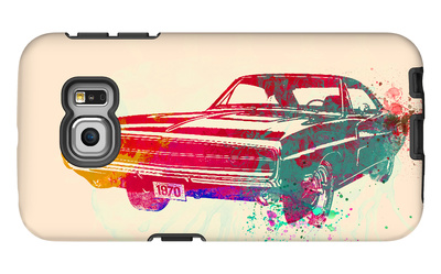 1967 Dodge Charger 1 Galaxy S6 Edge Case by  NaxArt