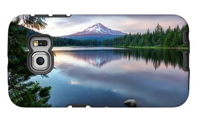 Summer Sunset at Trillium Lake, Oregon Galaxy S6 Edge Case by Vincent James