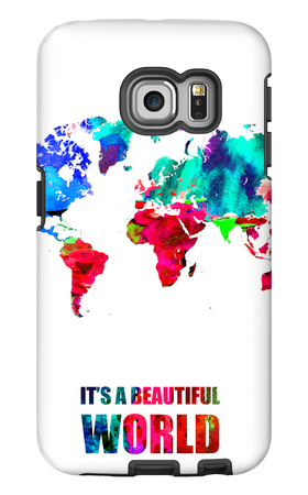 It's a Beautifull World Poster Galaxy S6 Edge Case by  NaxArt