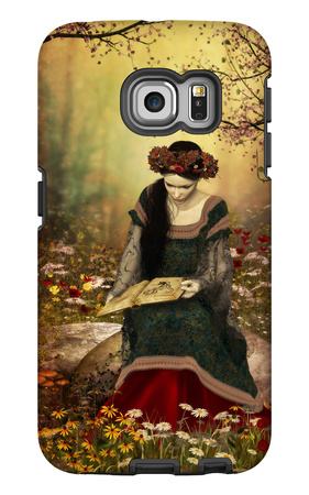 A Woman Reading A Book Galaxy S6 Edge Case by Atelier Sommerland
