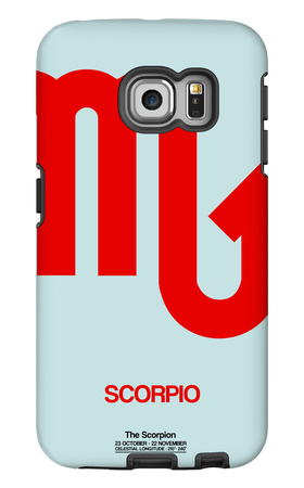 Scorpio Zodiac Sign Red Galaxy S6 Edge Case by  NaxArt