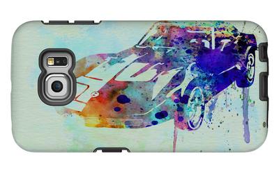 Corvette Watercolor Galaxy S6 Edge Case by  NaxArt