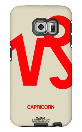 Capricorn Zodiac Sign Red Galaxy S6 Edge Case by  NaxArt