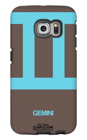 Gemini Zodiac Sign Blue Galaxy S6 Edge Case by  NaxArt