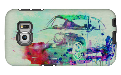Porsche 911 Watercolor 2 Galaxy S6 Edge Case by  NaxArt