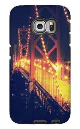 Vintage Bay Bridge Scene Galaxy S6 Edge Case by Vincent James