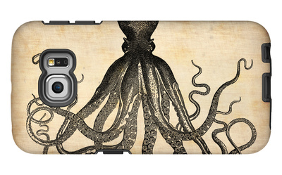 Vintage Octopus Galaxy S6 Edge Case by  NaxArt