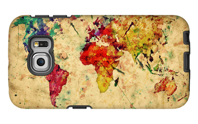 Vintage World Map Galaxy S6 Edge Case by PHOTOCREO Michal Bednarek