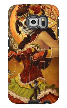 Day of the Dead - Marionettes Galaxy S6 Edge Case by  Lantern Press