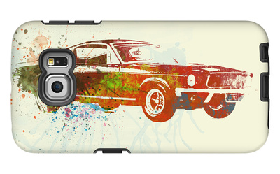Ford Mustang Watercolor Galaxy S6 Edge Case by  NaxArt