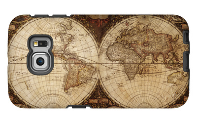 Vintage Map Galaxy S6 Edge Case by  Kuzma
