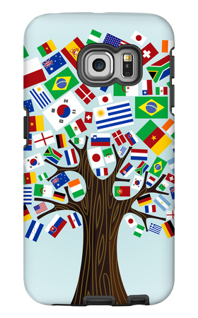 Flags Of The World Tree Galaxy S6 Edge Case by  cienpies