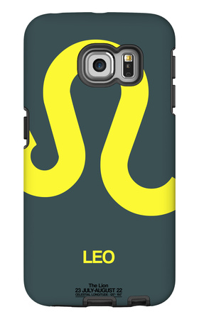 Leo Zodiac Sign Yellow Galaxy S6 Edge Case by  NaxArt