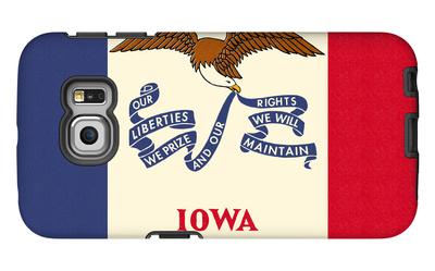 Iowa State Flag Galaxy S6 Edge Case by  Lantern Press