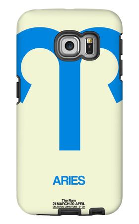Aries Zodiac Sign Blue Galaxy S6 Edge Case by  NaxArt
