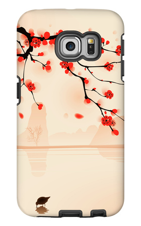Oriental Style Painting, Plum Blossom In Spring Galaxy S6 Edge Case by  ori-artiste