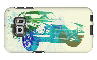 Chevy Camaro Watercolor Galaxy S6 Edge Case by  NaxArt