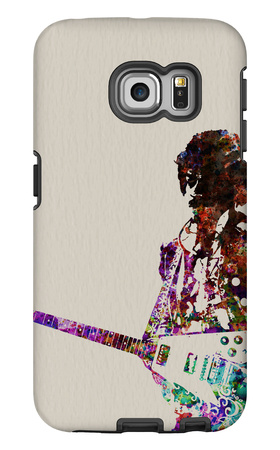 Hendrix With Guitar Watercolor Galaxy S6 Edge Case by  NaxArt