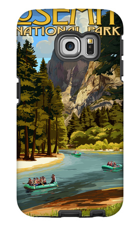 Merced River Rafting - Yosemite National Park, California Galaxy S6 Edge Case by  Lantern Press