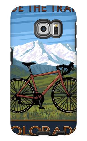 Mountain Bike - Colorado Galaxy S6 Edge Case by  Lantern Press