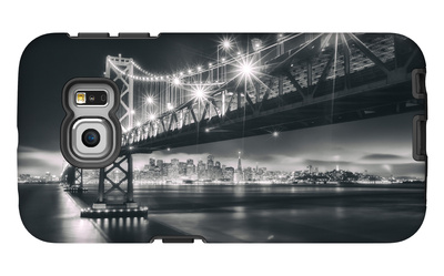 San Francisco Cityscape in Black and White, Bay Bridge Galaxy S6 Edge Case by Vincent James