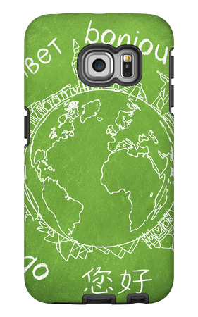 Say Hello Around The World. Hello Translated In A Few International Languages Galaxy S6 Edge Case by Viorel Sima
